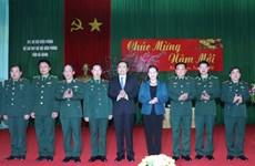 Chủ tịch Quốc hội làm việc tại Bộ Chỉ huy Bộ đội biên phòng Hà Giang