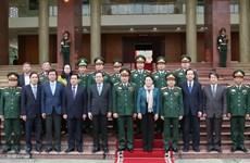 Chủ tịch Quốc hội thăm và làm việc tại Bộ Tư lệnh Quân khu 2
