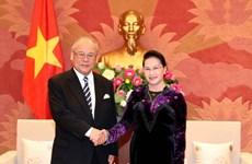 Chủ tịch Quốc hội tiếp Cố vấn đặc biệt Liên minh Nghị sỹ Nhật-Việt