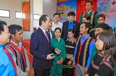 Chủ tịch nước Trần Đại Quang thăm, chúc Tết công nhân ngành cao su