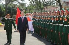 Chủ tịch nước thăm, chúc Tết các lực lượng vũ trang tại tỉnh Gia Lai