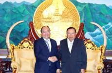 Thủ tướng Nguyễn Xuân Phúc hội kiến lãnh đạo cấp cao của Lào