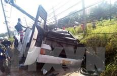 Xe chở du khách Trung Quốc gặp tai nạn nghiêm trọng tại Thái Lan