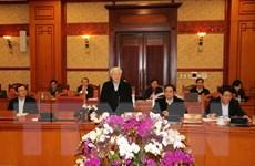 Ban Bí thư họp đánh giá thực hiện Chỉ thị 16 về tổ chức Tết Mậu Tuất
