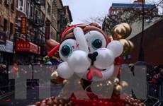 Tưng bừng lễ múa lân sư rồng chào đón năm mới trên đường phố Mỹ