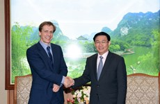 Phó Thủ tướng Vương Đình Huệ tiếp Giám đốc WEF châu Á-TBD