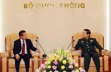 Đại tướng Ngô Xuân Lịch tiếp Quốc vụ khanh Bộ Nội vụ Campuchia