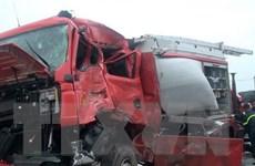 Cục CSGT nói gì về vụ xe khách đâm xe cứu hỏa trên cao tốc Pháp Vân?