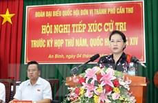 Cần Thơ: Chủ tịch Quốc hội tiếp xúc cử tri tại quận Ninh Kiều