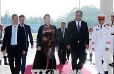 Chủ tịch Quốc hội Micronesia bắt đầu thăm chính thức Việt Nam