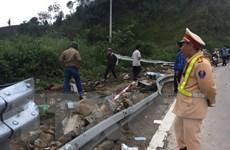Vụ tai nạn trên đèo Lò Xo: Hậu quả được giảm thiểu nhờ có tường hộ lan