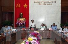 Công bố quyết định kiểm tra đối với Ban Thường vụ Tỉnh ủy Hậu Giang