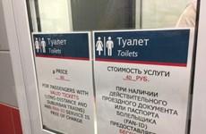 World Cup 2018: Vệ sinh công cộng của Nga không hề rẻ