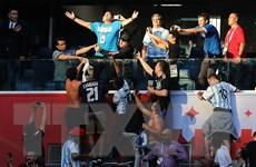 Người hâm mộ đội tuyển Argentina vỡ òa trong niềm vui chiến thắng
