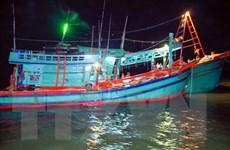 Nghệ An: Lai dắt thành công 2 tàu cá về nơi tránh trú bão