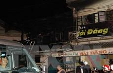 Hỏa hoạn thiêu rụi hai căn nhà gần ga tàu du lịch ở Đà Lạt