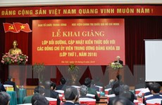 Khai giảng Lớp bồi dưỡng cho các Ủy viên BCH Trung ương Khóa XII