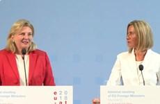 Hội nghị Ngoại trưởng EU bàn về diễn biến ở Trung Đông, Syria và Iran