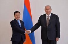 Tổng thống Armenia đánh giá cao mối quan hệ với Việt Nam