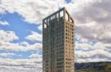 Tòa tháp bằng gỗ cao nhất thế giới có khả năng chống cháy ở Na Uy