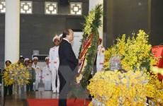 Hình ảnh Đoàn Chính phủ viếng nguyên Tổng Bí thư Đỗ Mười