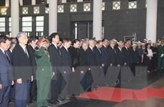 Hình ảnh lãnh đạo Đảng, Nhà nước viếng nguyên Tổng Bí thư Đỗ Mười