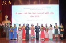15 tập thể, cá nhân nhận Giải thưởng Phụ nữ Việt Nam năm 2018