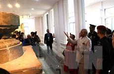 Tổng thống Ấn Độ thăm Bảo tàng Điêu khắc Chăm và Di sản Mỹ Sơn