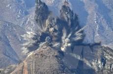 Hàn Quốc và Triều Tiên hoàn tất phá hủy các trạm gác ở Panmunjom