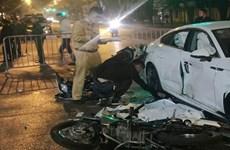 Hà Nội: Xác định tài xế lái Audi A5 đâm 2 xe máy khiến 1 người chết