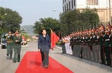 Chủ tịch Quốc hội Nguyễn Thị Kim Ngân thăm Bộ Tư lệnh Quân khu 1