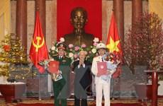 Hình ảnh phong quân hàm Đại tướng cho 2 đồng chí Tô Lâm, Lương Cường