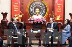 Bí thư Thành ủy Thành phố Hồ Chí Minh tiếp Đại sứ Trung Quốc