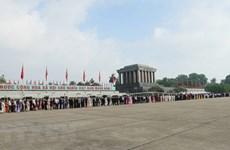 Hơn 47.000 lượt người vào Lăng viếng Chủ tịch Hồ Chí Minh dịp Tết