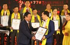Vinamilk 23 năm liền nhận giải thưởng Hàng Việt Nam chất lượng cao