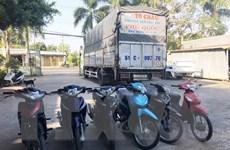 An Giang: Phát hiện xe tải chở nhiều xe máy không rõ nguồn gốc