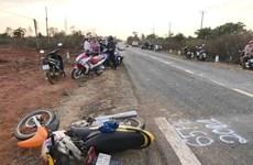 Gia Lai: Ôtô va chạm với xe máy, 3 người tử vong tại chỗ