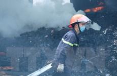 Cháy lớn thiêu rụi xưởng sản xuất lốp ôtô rộng hàng nghìn m2