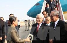 Hình ảnh Tổng Bí thư, Chủ tịch nước Nguyễn Phú Trọng đến Campuchia