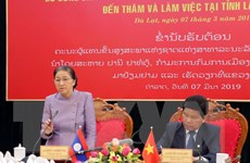 Chủ tịch Quốc hội Lào thăm và làm việc tại Lâm Đồng