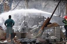 Cháy công ty gỗ, thiêu rụi một nhà xưởng rộng gần 1.000m2