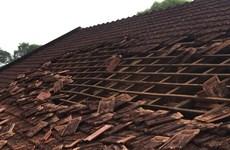 Lốc xoáy cuốn tốc mái khu văn phòng Ủy ban Nhân dân thành phố Bảo Lộc