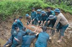 Quảng Bình: Phát hiện quả bom nặng 350kg dưới móng nhà dân