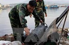 Xử lý an toàn quả ngư lôi nặng gần 100kg trên công trình đê biển