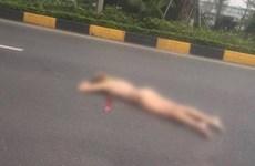 Hà Nội: Cô gái ngoại quốc rơi từ cầu vượt sân bay Nội Bài xuống đường