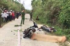 Gia Lai: Tai nạn môtô liên hoàn, 2 người chết, 5 người bị thương