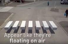 Kẻ đường hình khối 3D giúp người đi bộ an toàn hơn