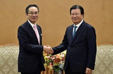Phó Thủ tướng Trịnh Đình Dũng tiếp Tổng Giám đốc Tập đoàn Marubeni