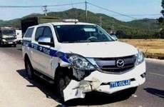 Xe tuần tra cảnh sát giao thông va chạm xe máy, 1 người tử vong