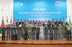 Khai mạc Khóa huấn luyện Sỹ quan Hậu cần Liên hợp quốc tại Việt Nam